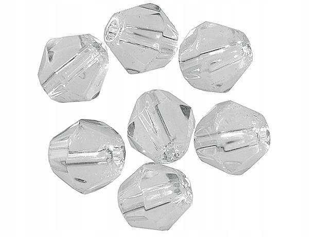 Бусина граненая пластик прозрачная 10шт Пирс
