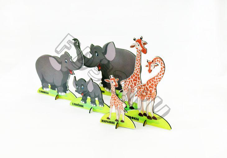 Набор фигурок ДИКИЕ ЖИВОТНЫЕ 10-15 см ИО-307
