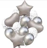 Цветные  гелиевые шары фонтан 1_35