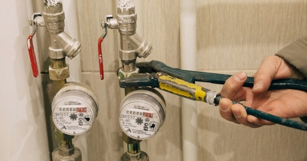установка (монтаж) счетчиков воды