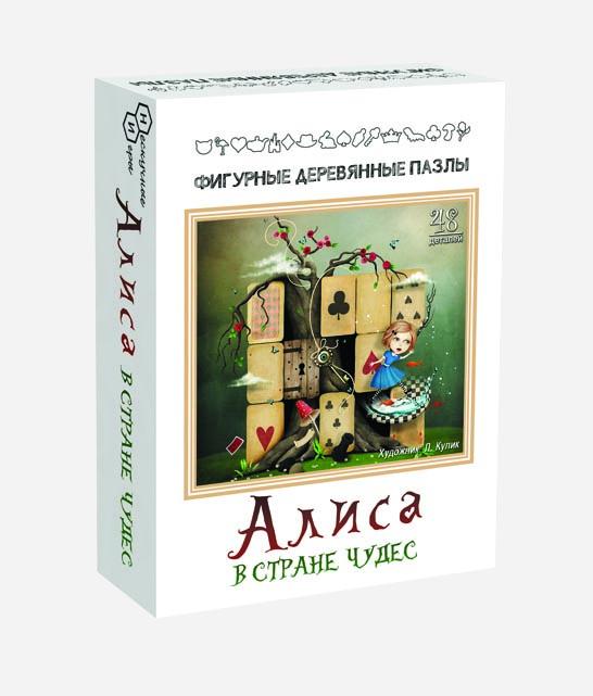 """Деревянный пазл """"Алиса в стране чудес"""""""