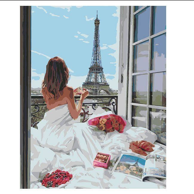 Картина по номерам Романтика Парижа 40*50 см AK80019