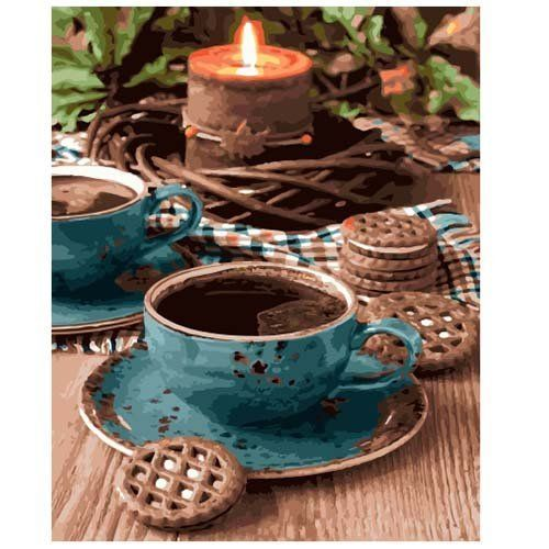 Картина по номерам Сет кофейный 40*50 см GX28576
