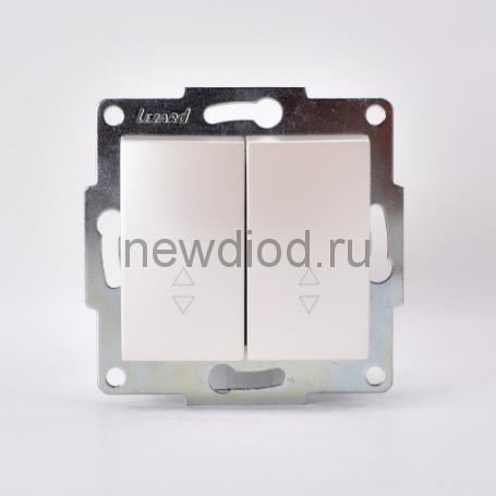 KARINA Выключатель проходной двойной жемчужно-белый перламутр (10шт/120шт)