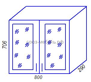 Кухня Тиса BC800 Шкаф навесной стекло
