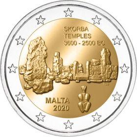 Храм Скорба  2 евро Мальта 2020 Уменьшенный тираж на заказ