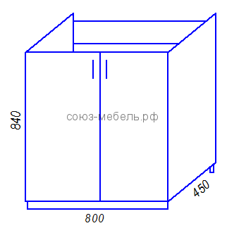 Кухня Тиса M800 Стол под мойку