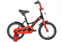 Детский велосипед Novatrack Strike 14 (2020) Черный-красный (139628)