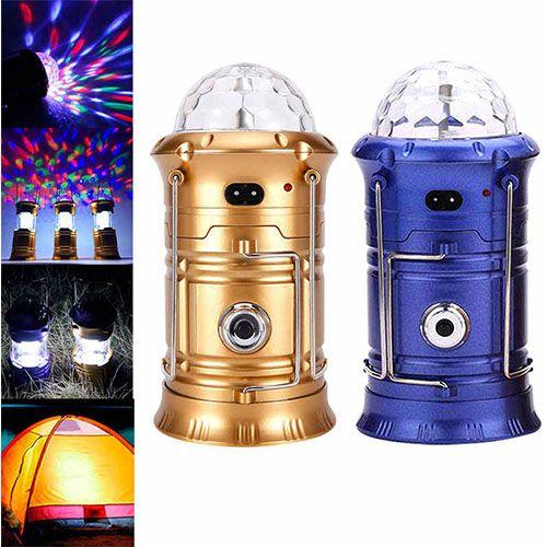 Складной кемпинговый фонарь с диско-шаром 4 в 1