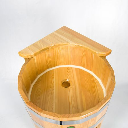 Умывальник-стойка угловая из лиственницы 850*500мм. Цвет: натуральный