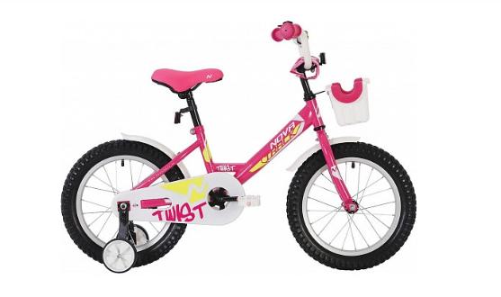 Детский велосипед Novatrack Twist 12 (2020) Розовый (140635)