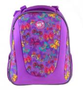 Рюкзак каркасный YES для девочки Butterfly dance, сиреневый ранец