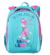Рюкзак каркасный YES Bonjour, бирюзовый ранец