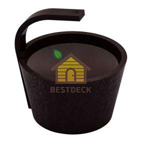 Ведро SAWO 342-BL-DRF (черный цвет, 4 литра)
