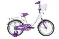 Детский велосипед Novatrack Butterfly 16 (2020) Белый-фиолетовый (139711)