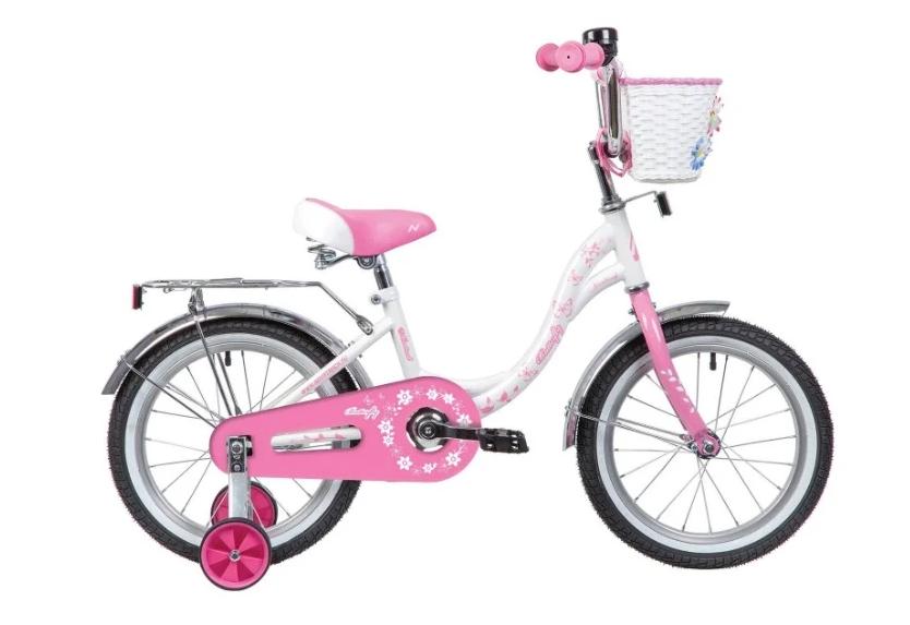 Детский велосипед Novatrack Butterfly 16 (2020) Белый-розовый (139712)