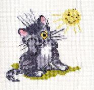 """""""Klart"""" набор для вышивания 6-073 """"Котенок и солнышко"""""""