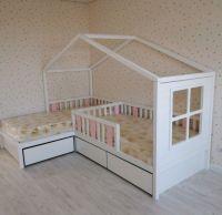 Кровать Домик угловой Fairy Land №23 (для двоих детей)
