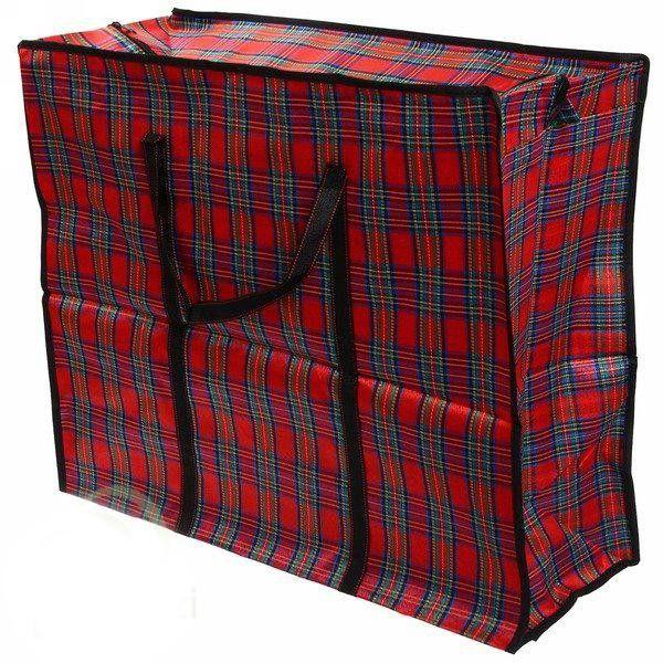 Тканевая хозяйственная сумка на молнии, 40х60х20 см