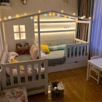 Кровать Домик угловой Fairy Land №35 (для двоих детей)