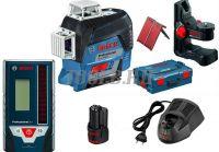 BOSCH GLL 3-80 C + BM 1 + GBA 12V + LR 7 - Лазерный уровень  - купить выгодно по цене производителя.Цена с доставкой по России и СНГ