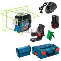 Bosch GLL 3-80 CG + BM 1 + GBA 12V + L-Boxx - Лазерный уровень  - купить выгодно по цене производителя