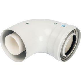 Элемент дымохода конденсац. колено 90°