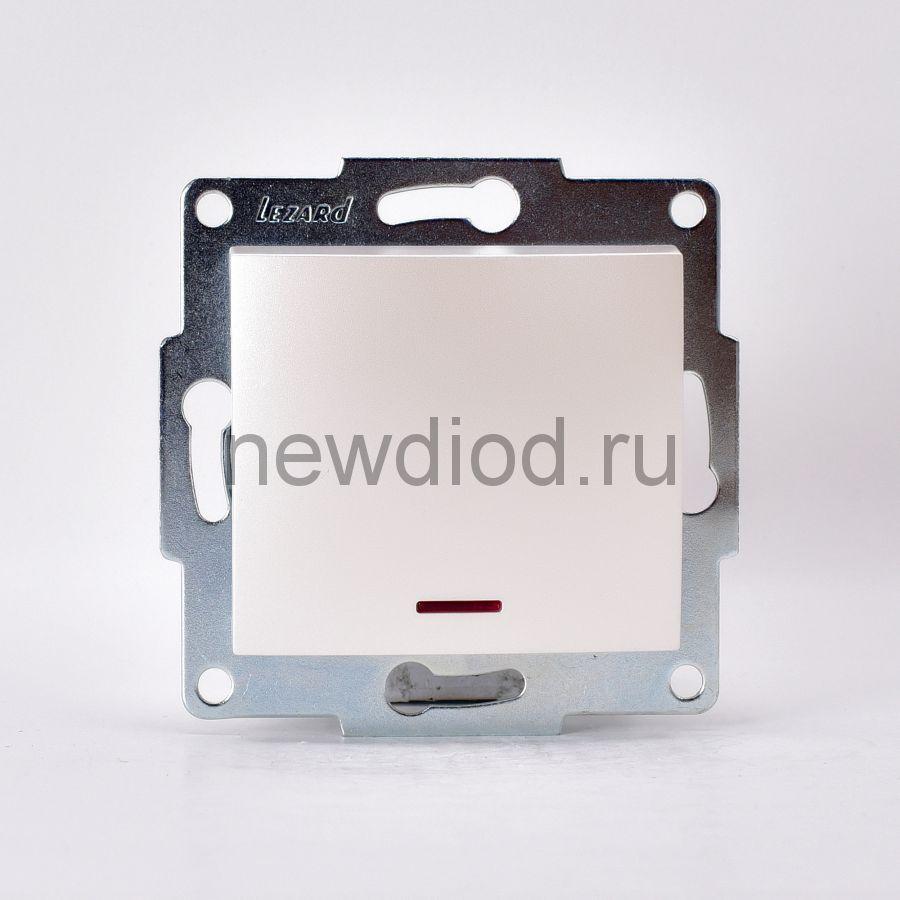 KARINA Выключатель с подсветкой жемчужно-белый перламутр  (10шт/120шт)