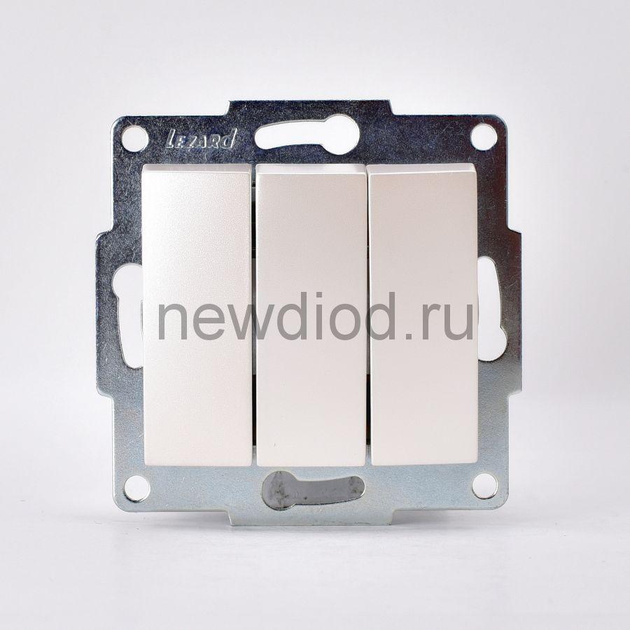 KARINA Выключатель тройной жемчужно-белый перламутр  (10шт/120шт)