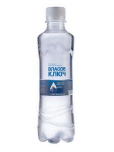 Природная минеральная столовая вода Власов ключ 0,33л. газ. пэт (1 уп./12 бут.)