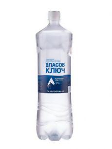 Природная минеральная столовая вода Власов ключ 1,5л. газ. пэт (1 уп./6 бут.)