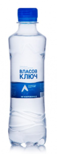 Природная минеральная столовая вода Власов ключ 0,33л. негаз. пэт (1 уп./12 бут.)