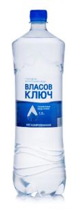 Природная минеральная столовая вода Власов ключ 1,5л. негаз. пэт (1 уп./6 бут.)