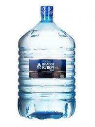 Природная минеральная столовая вода Власов ключ 19 л. негаз. Одноразовая ПЭТ