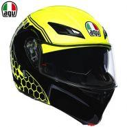 Шлем AGV Compact ST Detroit, Неоновый жёлтый