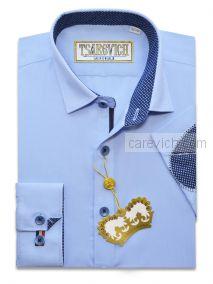 "Рубашки для мальчиков оптом ""Царевич"" (6-14 лет.). 8 шт. Артикул: Cashmere Blue LOK"
