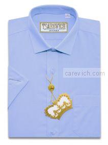 "Детская рубашка школьная,    ""ЦАРЕВИЧ"", оптом 8 шт., артикул: Cashmere Blue-k"