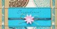 """Конверт для денег """"Поздравляем! Розовый цветок"""", 164x84 мм"""