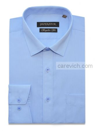 """Рубашки ПОДРОСТКОВЫЕ """"IMPERATOR"""", оптом 12 шт., артикул: Cashmere Blue-П"""