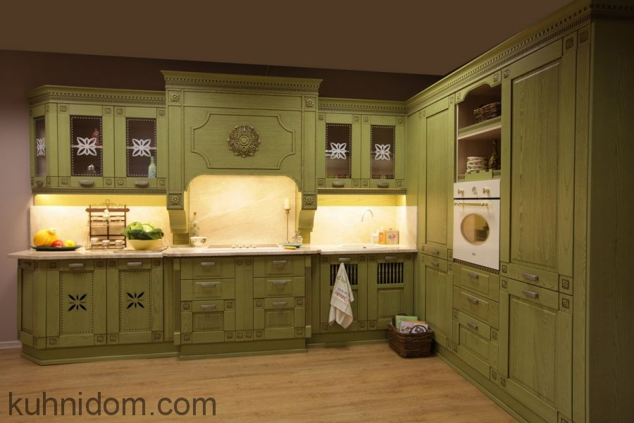 Кухня Флореале Верде с порталом