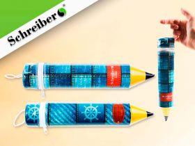 Пенал-карандаш пластик. S 1822 Джинс 5х26см