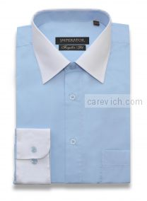 "Рубашки ПОДРОСТКОВЫЕ ""IMPERATOR"", оптом 12 шт., артикул:  ST Сорочка подростковая Dream Blue/PT2000-33-П"