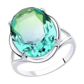 Кольцо из серебра с ситаллом 92011914 SOKOLOV