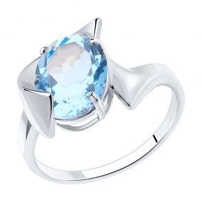 Кольцо из серебра с топазом 92011948 SOKOLOV