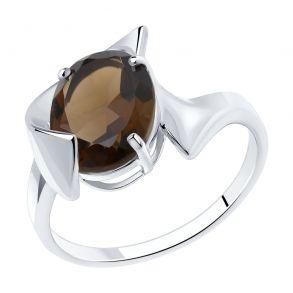 Кольцо из серебра с раухтопазом 92011949 SOKOLOV