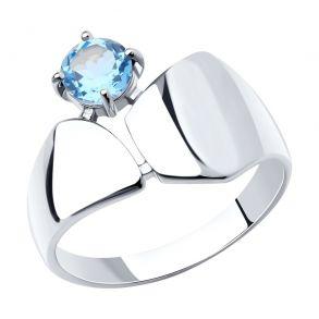 Кольцо из серебра с топазом 92011957 SOKOLOV
