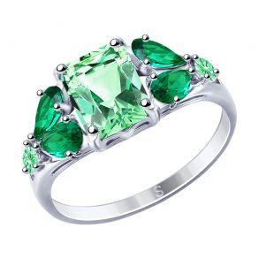 Кольцо из серебра с фианитами 94012761 SOKOLOV