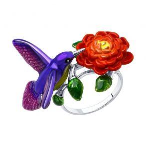 Кольцо из серебра с эмалью 94013152 SOKOLOV