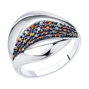 Кольцо из серебра с фианитами 94013199 SOKOLOV