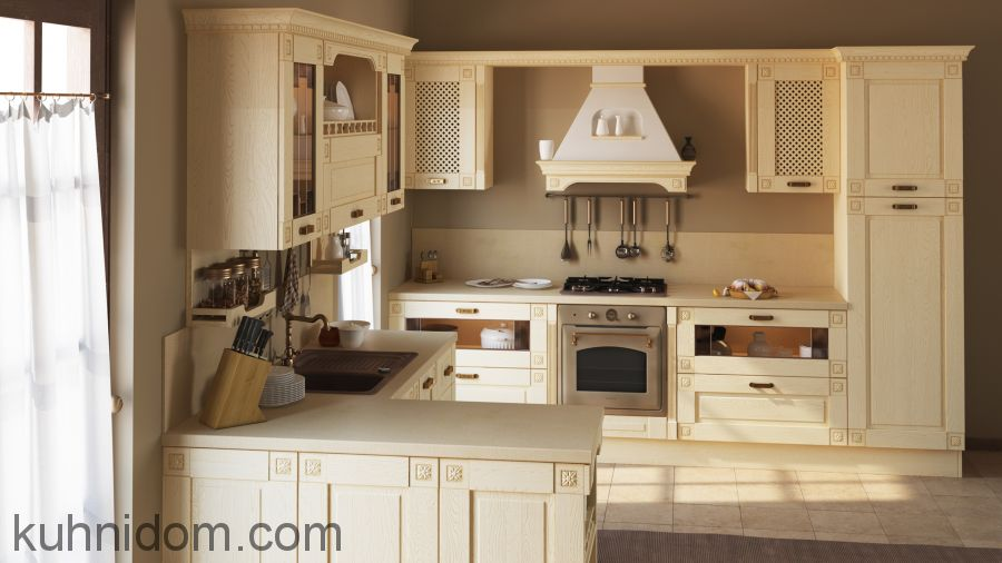 Кухня Флореале Кремона с открытой полкой